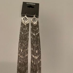 Express Tassel Earrings in Silver